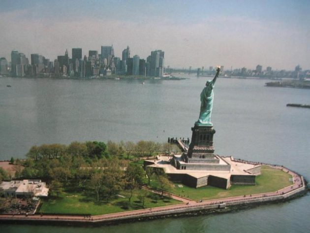 The Statue of Liberty, aerial view. Photo courtesy of NPS.